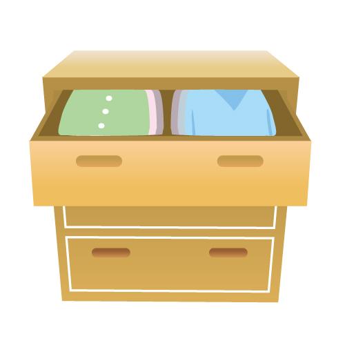 服の収納のイメージ画像