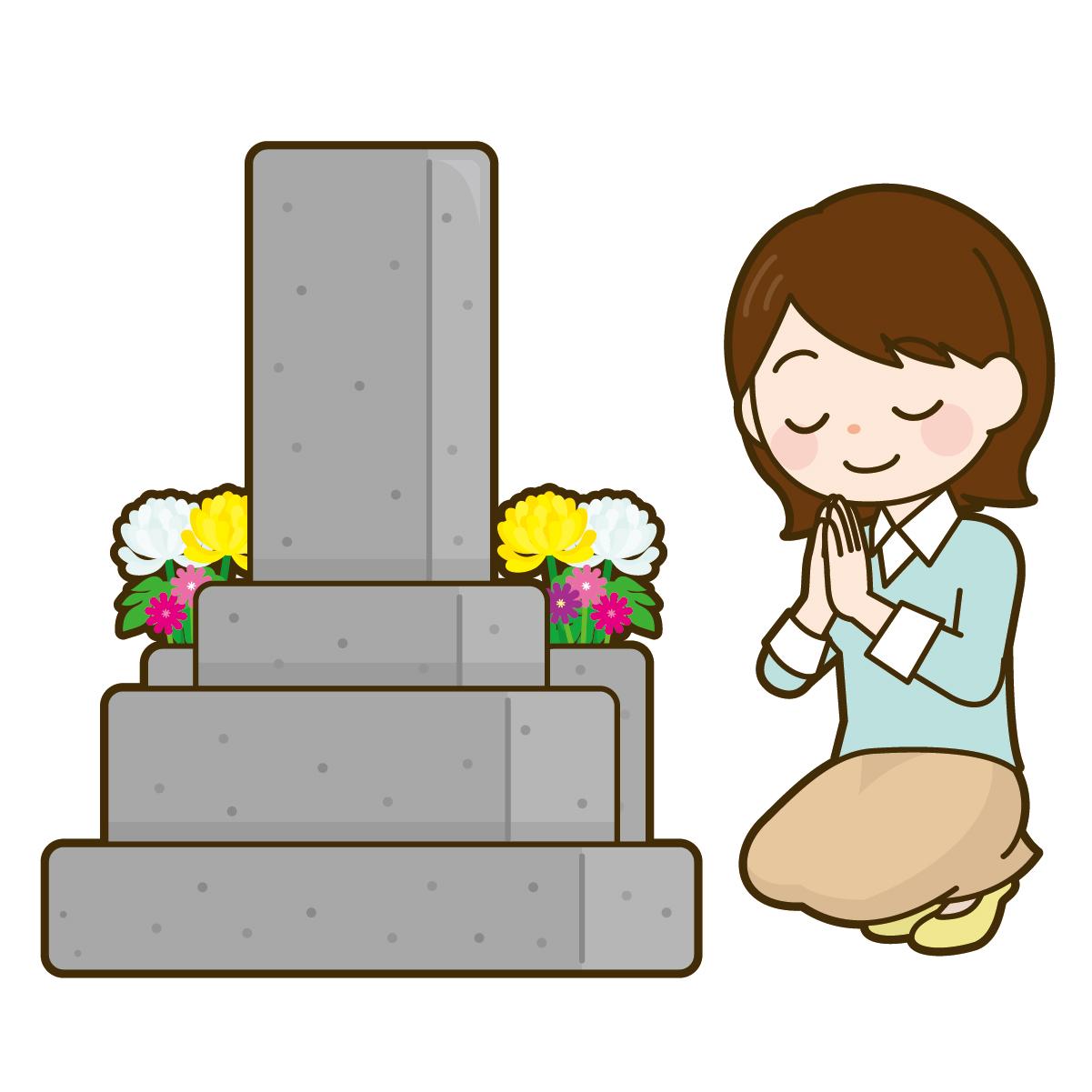 お墓参りのイメージ画像