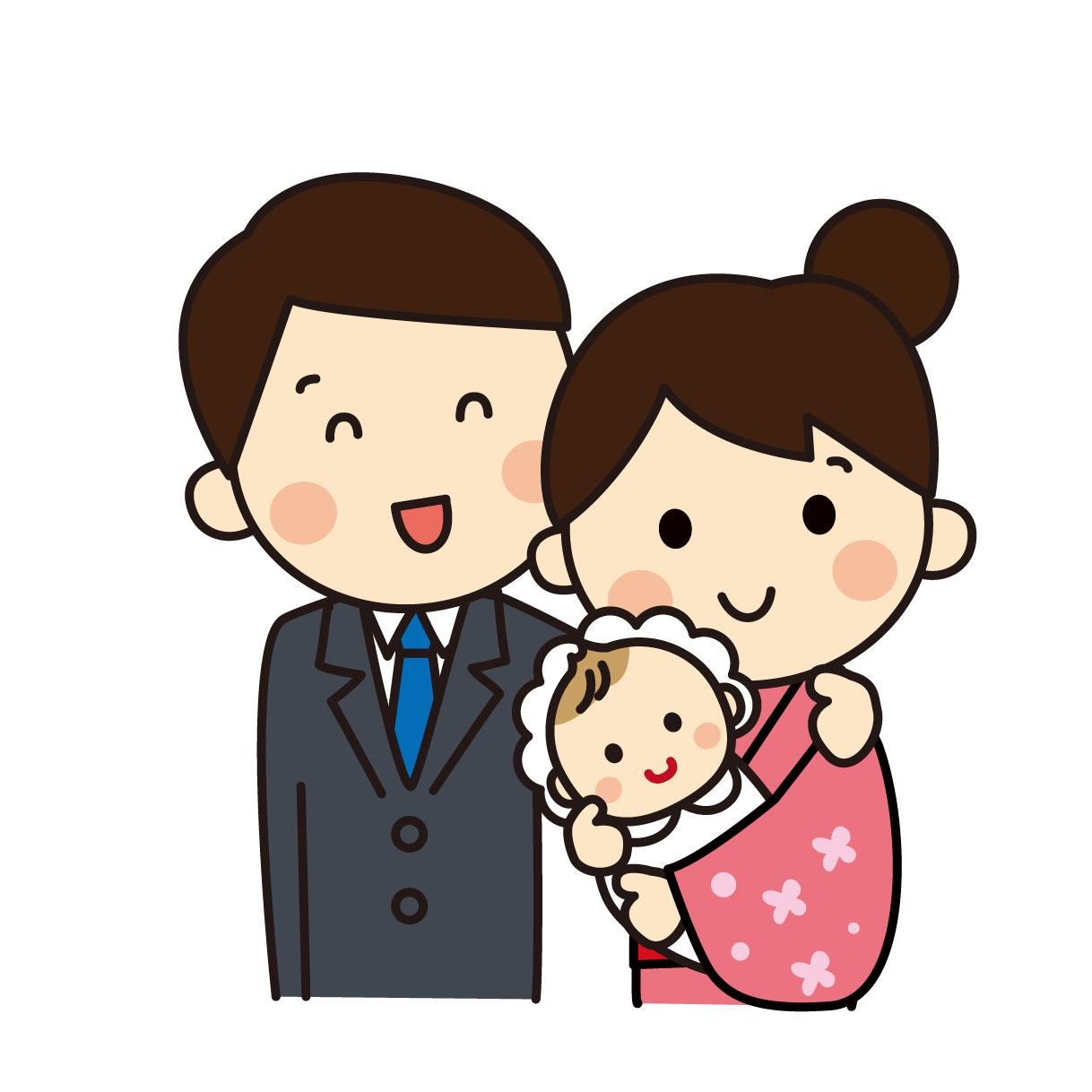 お宮参りのイメージ画像