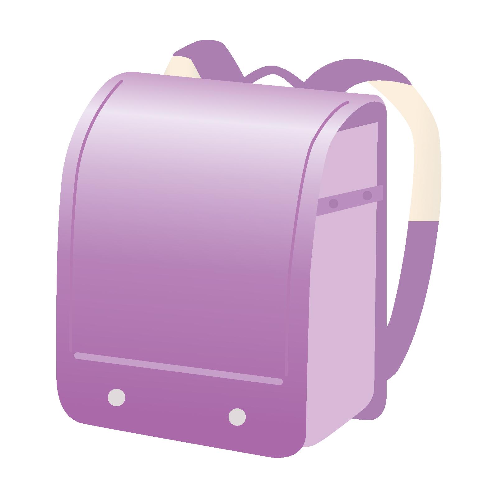 紫色のランドセルのイメージ画像