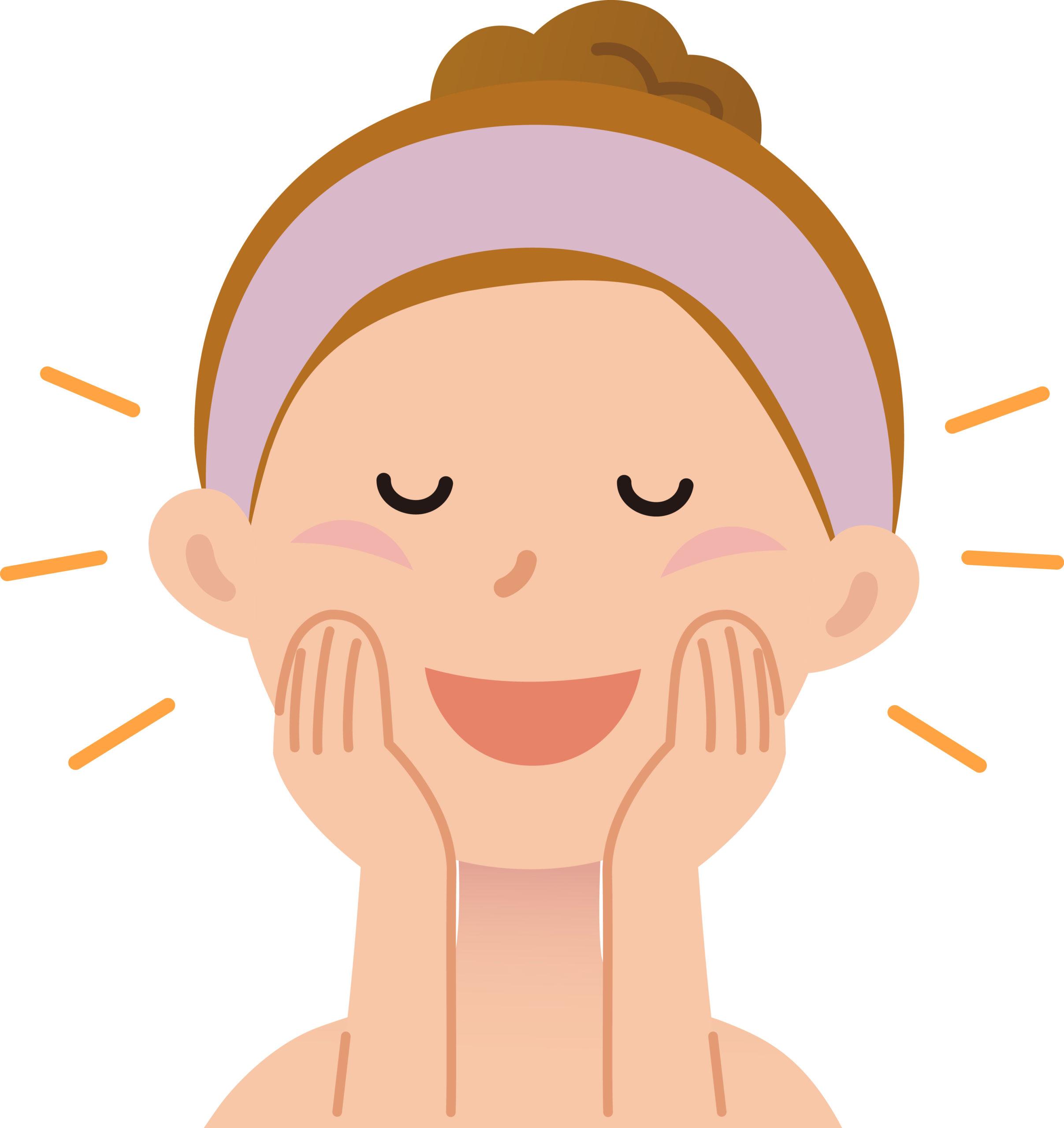 洗顔やスキンケアのイメージ画像