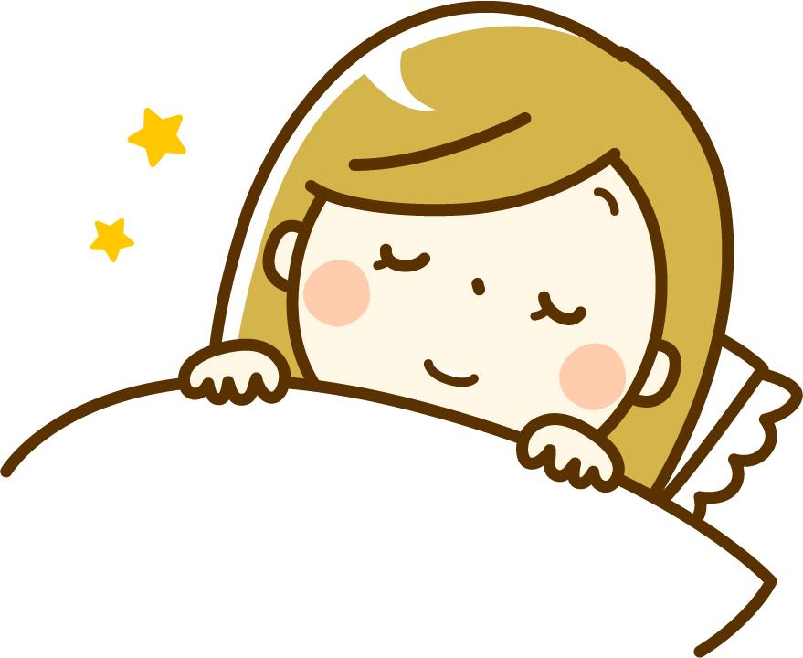 寝ている女性のイメージ画像