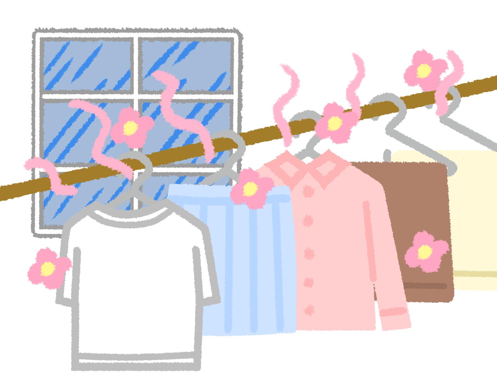 洗濯物の部屋干しのイメージ画像