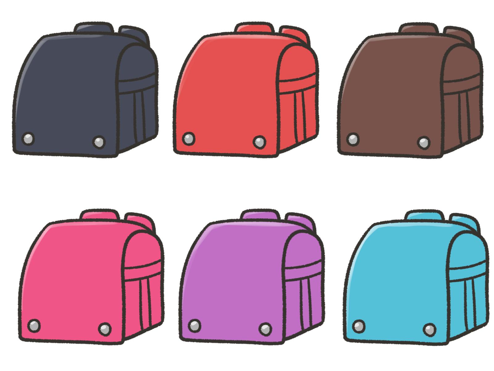 様々な色のランドセルのイメージ画像