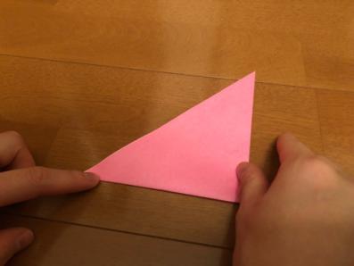 ぼんぼりの折り方の手順2