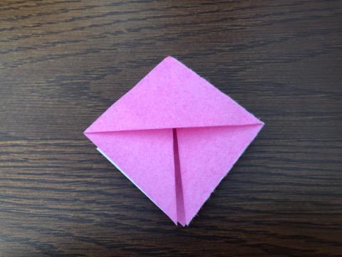 桃の花を折り紙の手順6