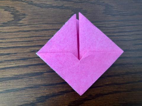 桃の花を折り紙の手順8