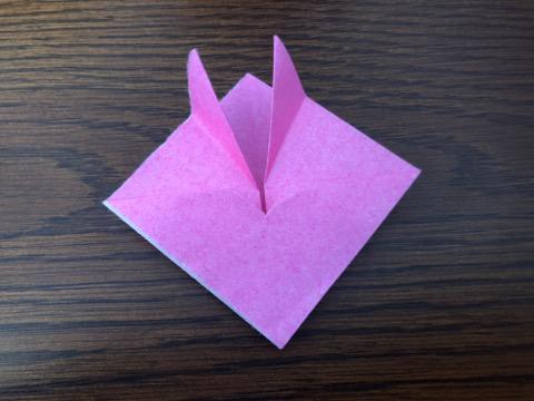 桃の花を折り紙の手順9