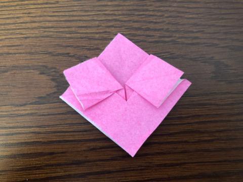 桃の花を折り紙の手順10