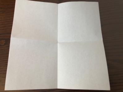 折り紙でリースの壁飾りを作る手順1