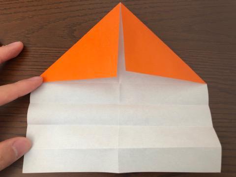 折り紙でリースの壁飾りを作る手順5
