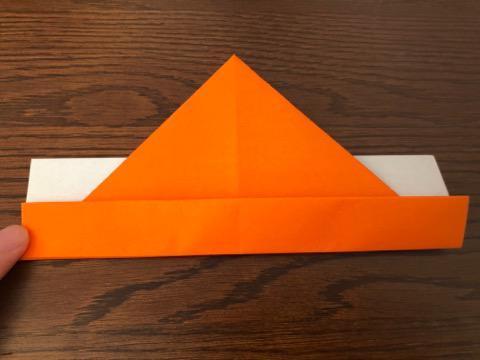 折り紙でリースの壁飾りを作る手順11