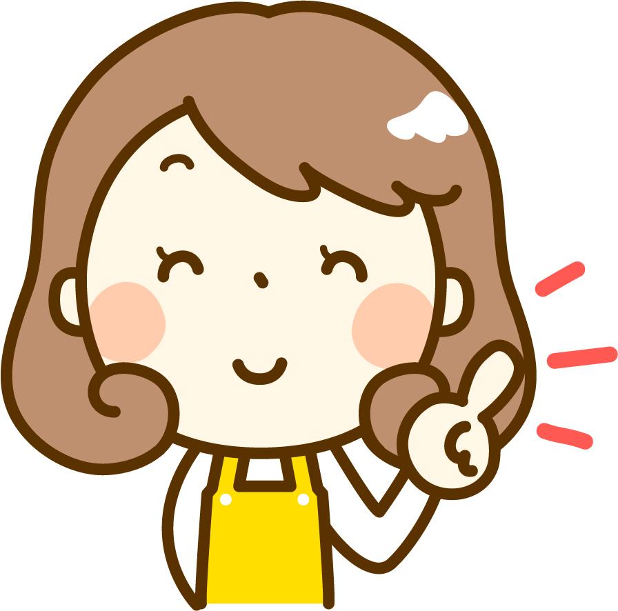 キッチンの食器用水切りかごの珪藻土マットにカビの解決策を知った女性のイメージ画像
