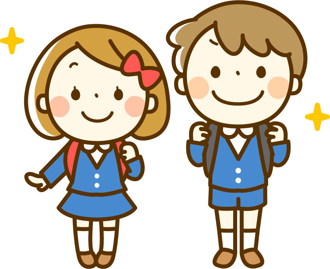 入学する小学生のイメージ画像
