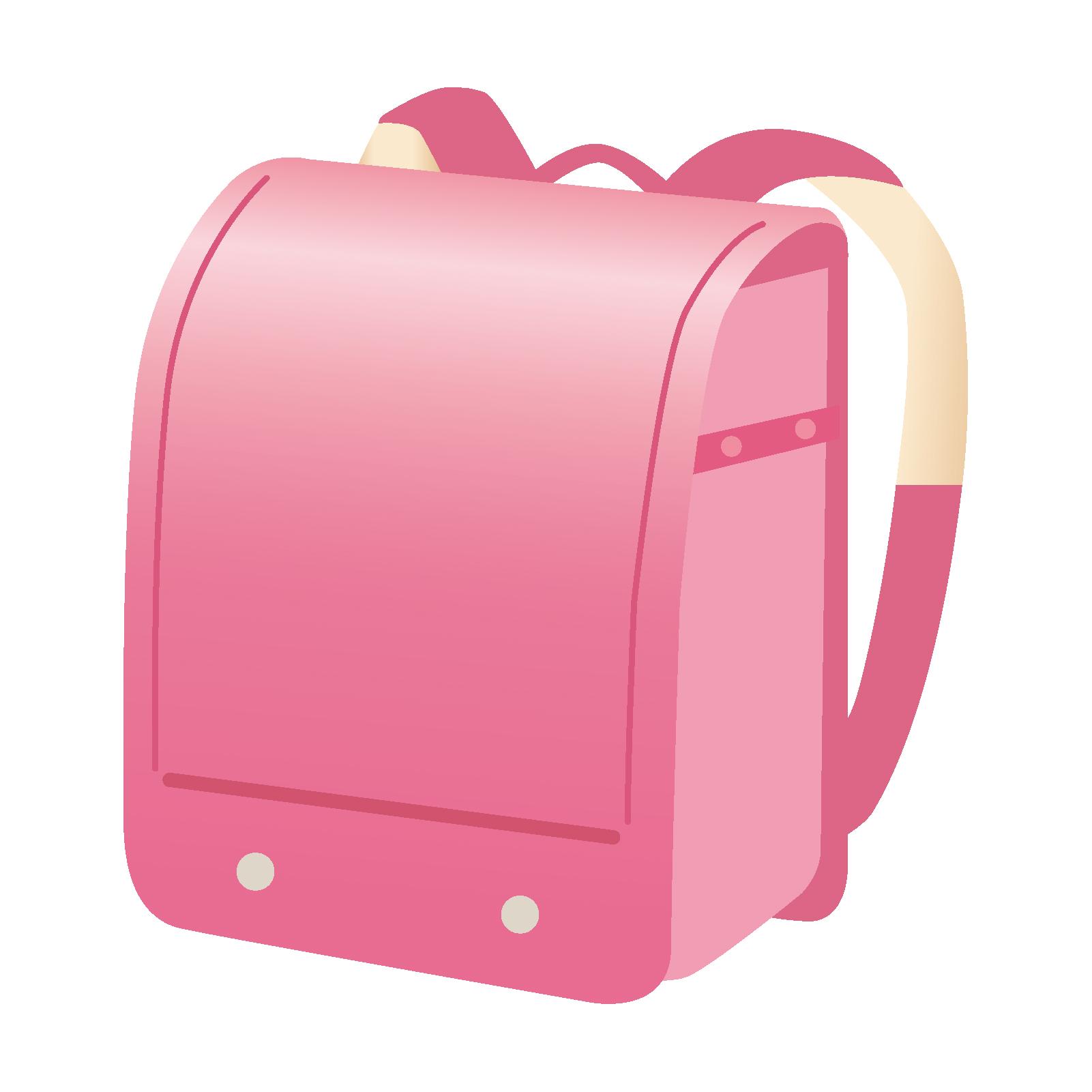 ピンク色のランドセルのイメージ画像