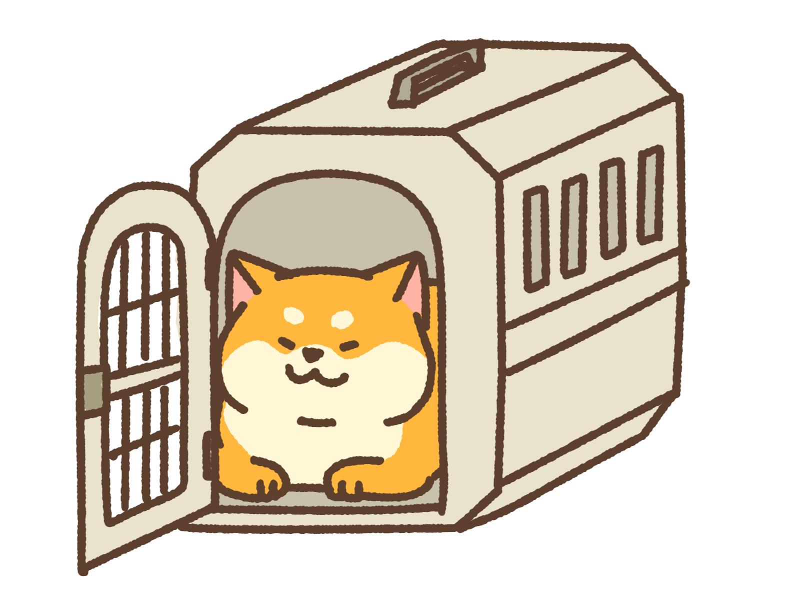 キャリーケースに入った犬のイメージ画像