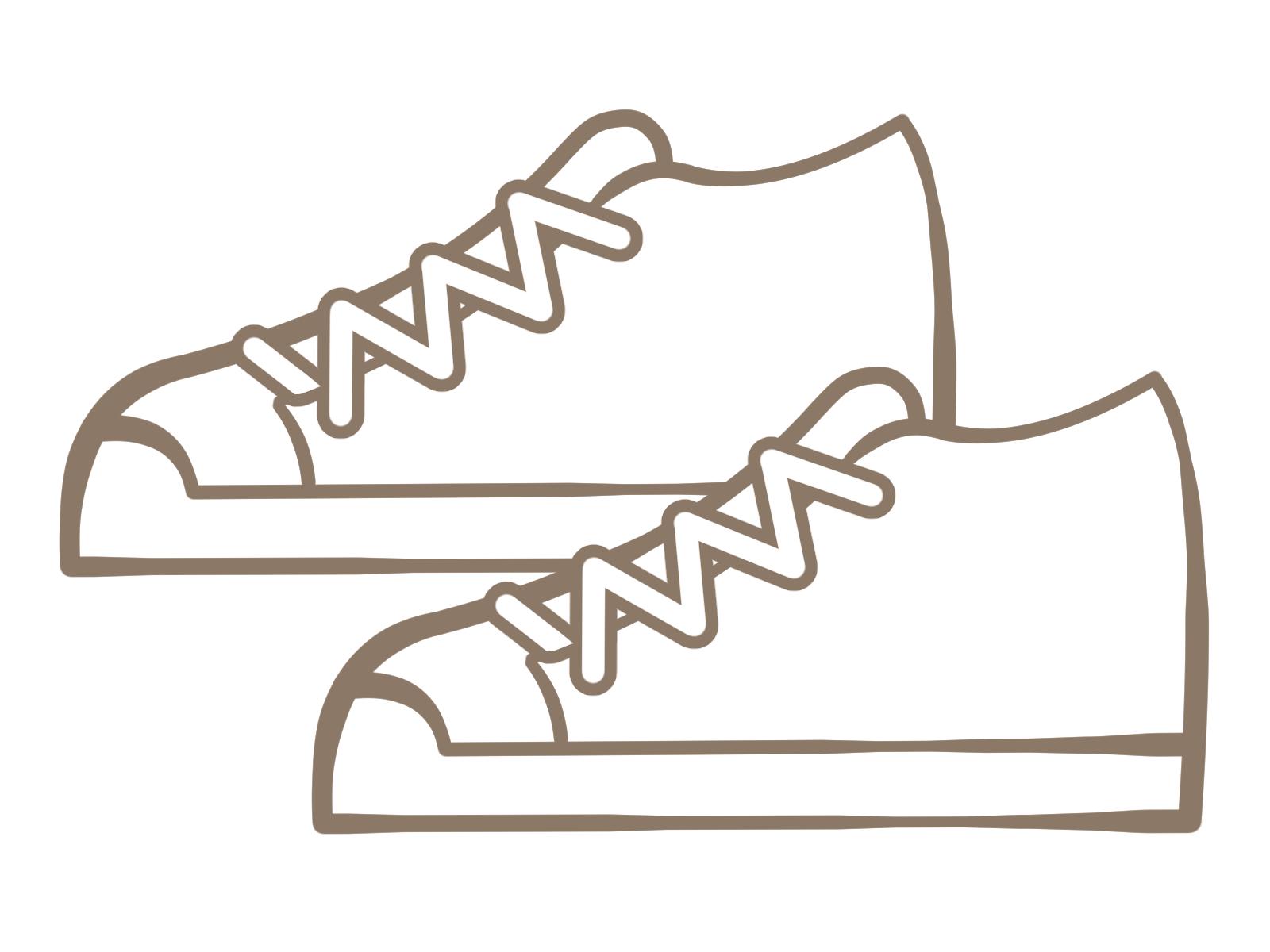 白い靴のイメージ画像