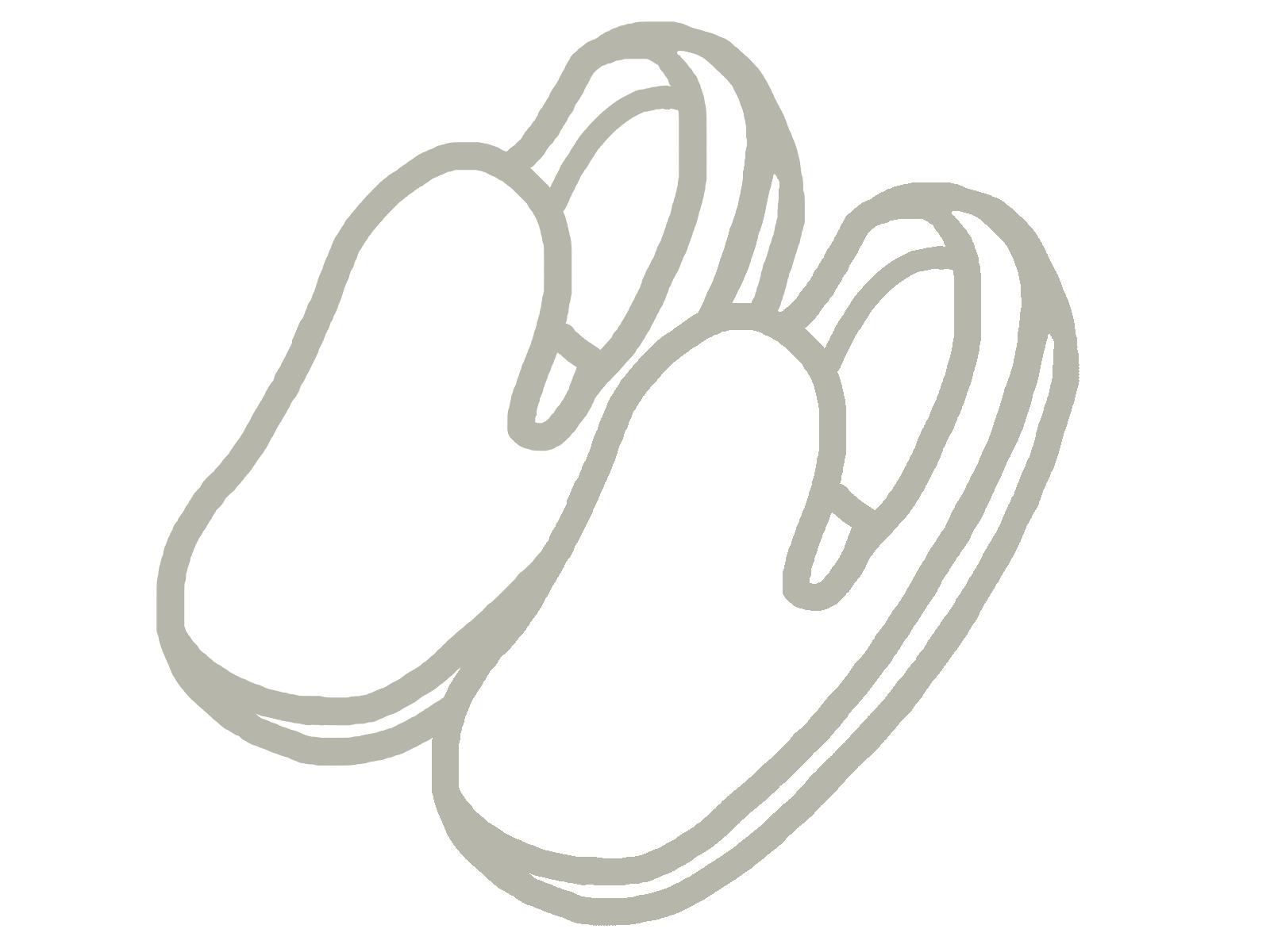 白い靴のイメージ画像2