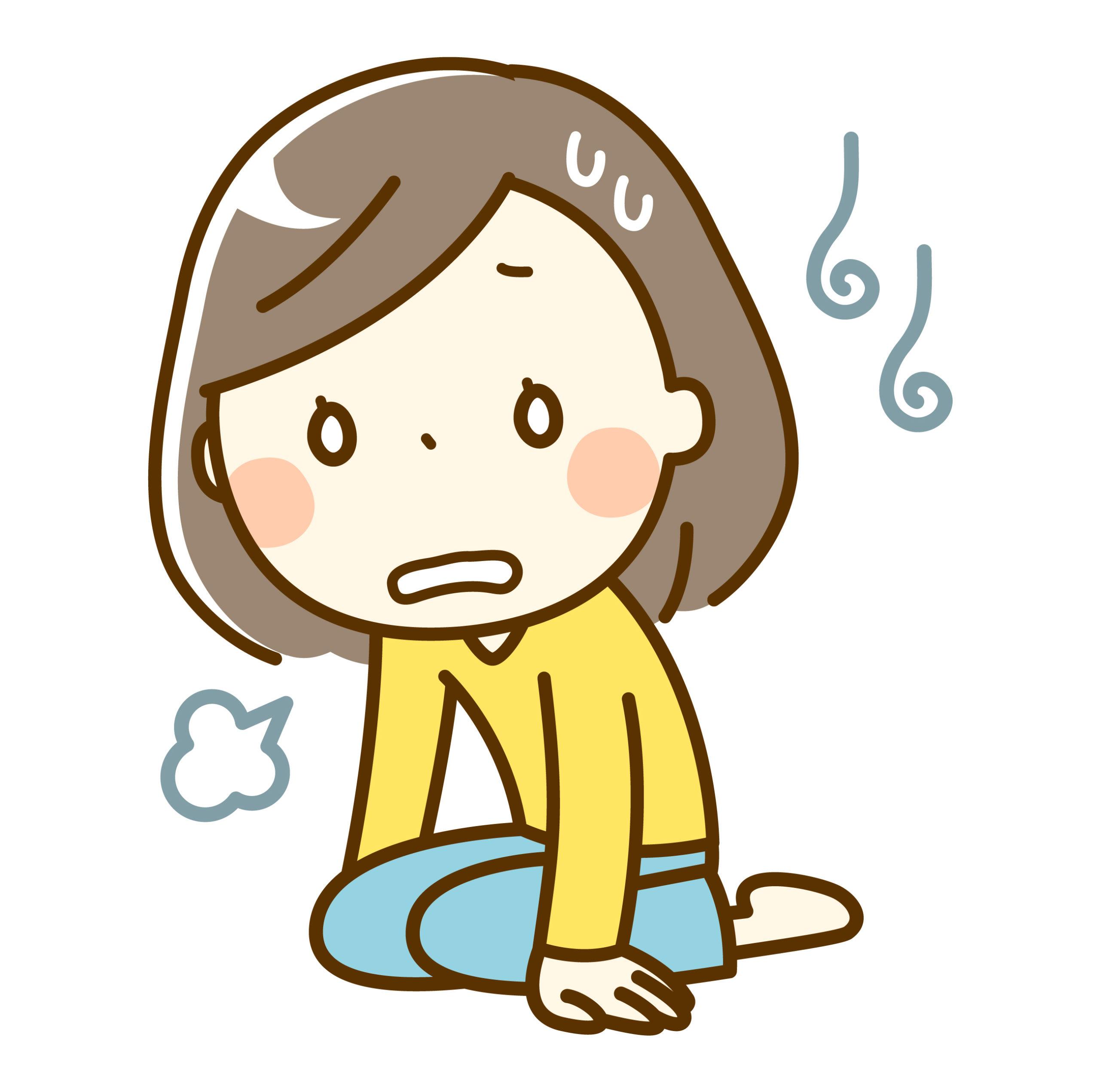 ストレスで落ち込む女の人のイメージ画像