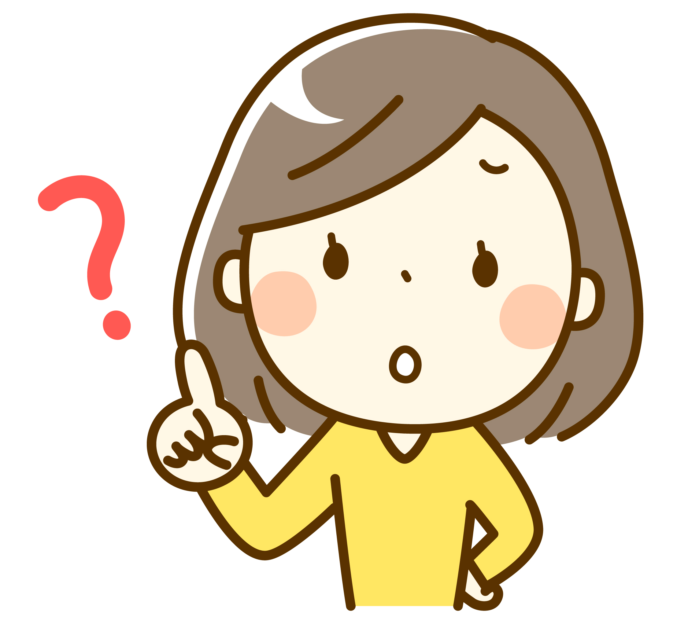疑問を感じる女性のイメージ画像2