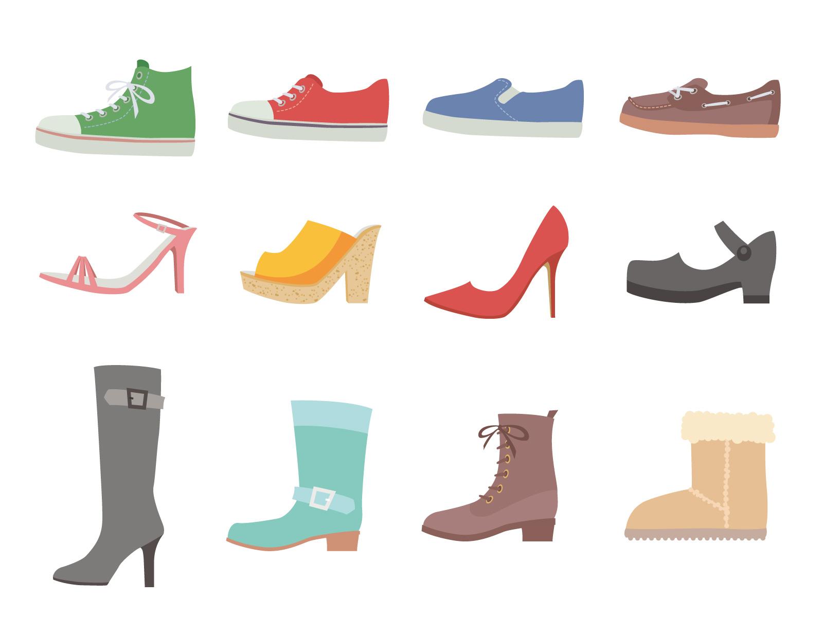 大量の靴のイメージ画像