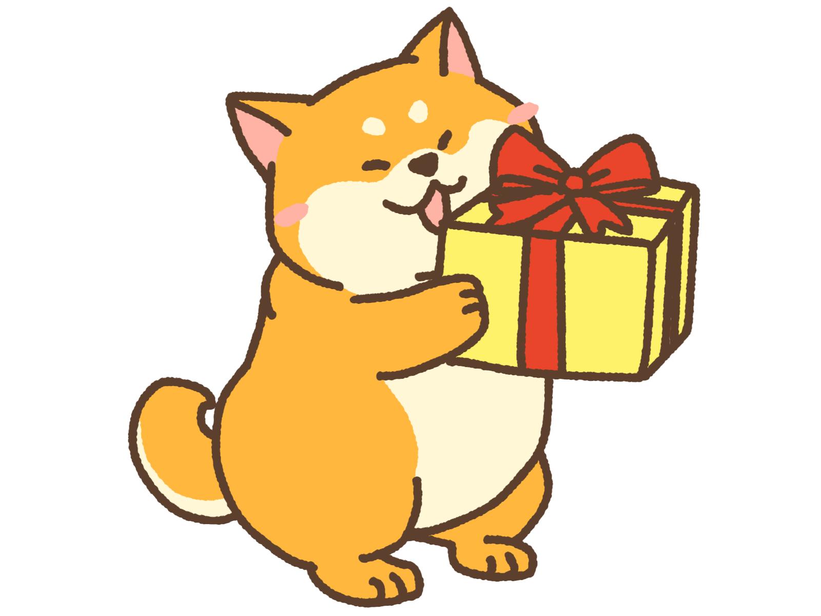 彼氏に誕生日プレゼントを渡すイメージ画像