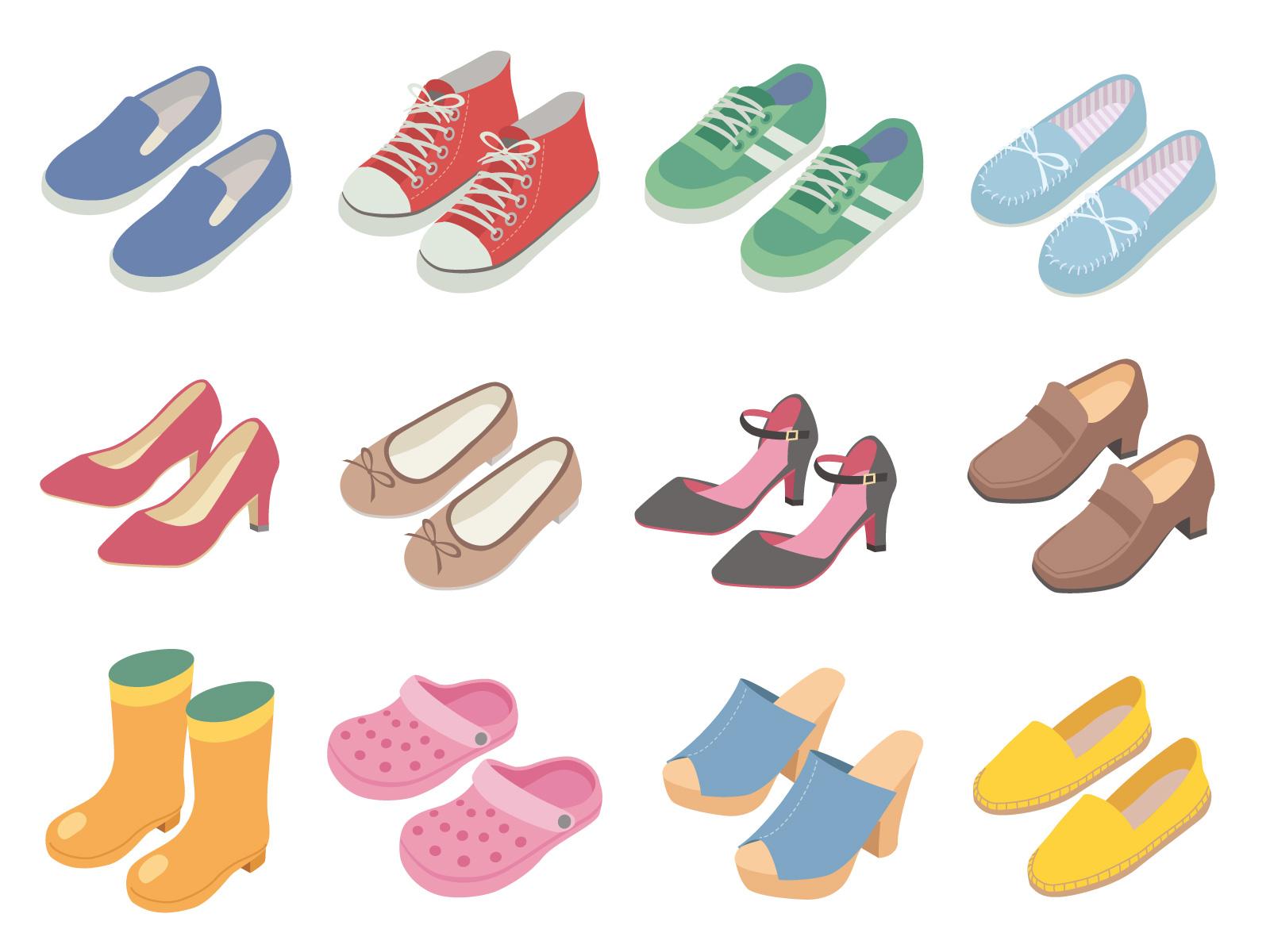 たくさんの靴のイメージ画像