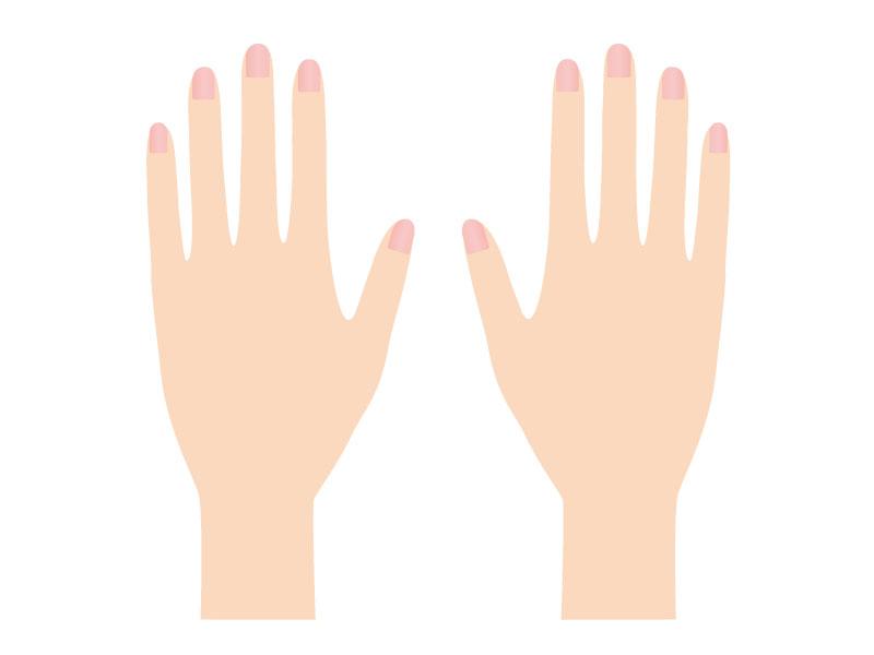 女の人の手や爪のイメージ画像