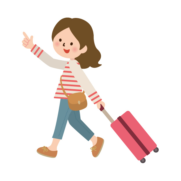 旅行に行く女性のイメージ画像