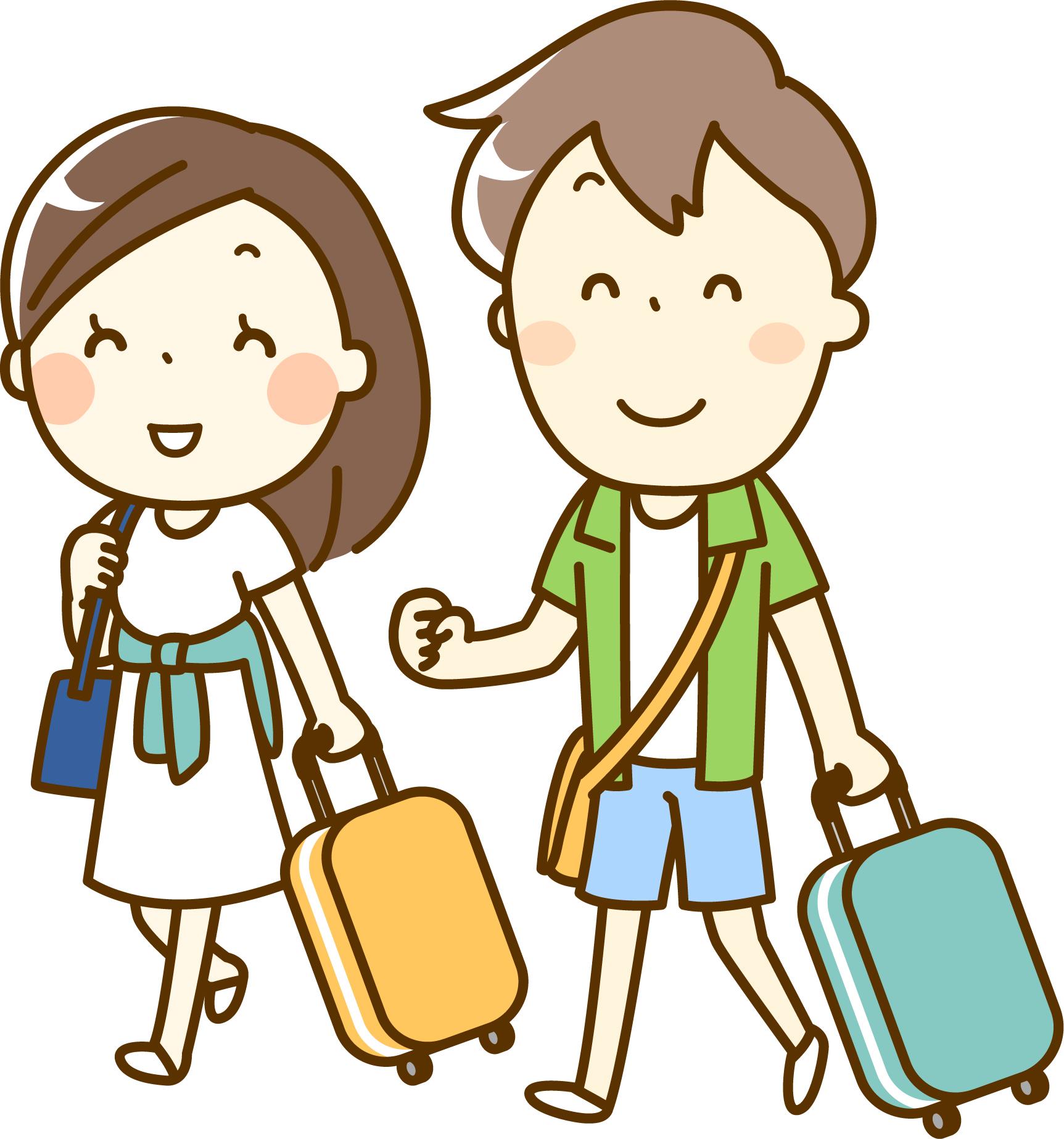 旅行に行くカップルのイメージ画像